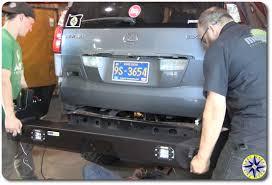 lexus rear bumper installing lexus gx470 swing out bumper overland adventures and