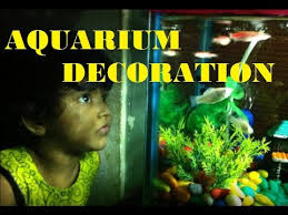 How To Make Fish Tank Decorations At Home How To Make An Aquarium At Home Kids Craft Ideas Decorate It