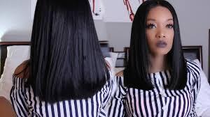 tutorial how to cut a blunt long bob her hair company hair