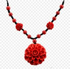 red flower necklace images Necklace red coral taobao bracelet flower necklace png download jpg