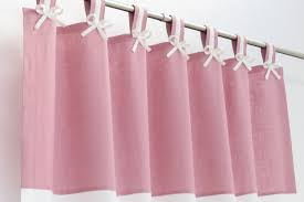 Pink Nursery Curtains Pink Linen Curtains I Pink White Linen Curtains I Pink White