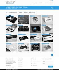 freebie 4 column portfolio template for business theme