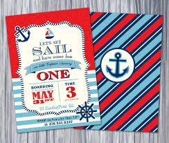 nautical first birthday invitations oxsvitation com