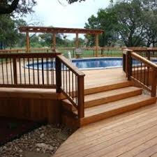 deck plans for round above ground pools google search house