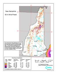 Resource Map Windexchange New Hampshire 50 Meter Community Scale Wind Resource Map