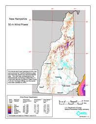 Resource Map Windexchange New Hampshire 50 Meter Community Scale Wind Resource Map