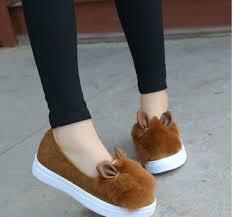 aliexpress help new women s shoes rabbit hair lighter shoes low help cartoon