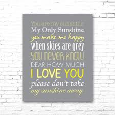 sunshine invitation you are my sunshine printable lyrics artwork grey u0026 yellow