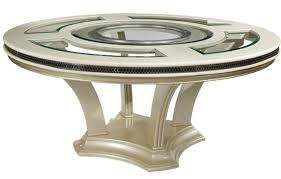 dining room sets los angeles furniture stunning contemporary beveled edge round modern glass