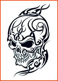 crawling aztec skull tattoo design real photo pictures images