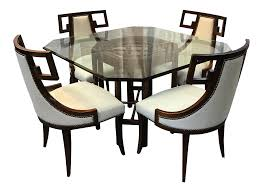 wood dining room tables and chairs gently used baker furniture up to 50 off at chairish