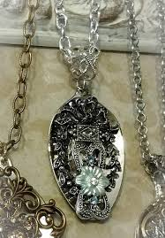 antique necklace silver images Necklace silver plate antique look blue crystal jpg&a