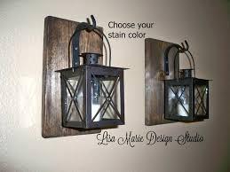 Rustic Bathroom Vanity Light Fixtures - wall sconces lanterns bathroom vanity lighting rustic fancy
