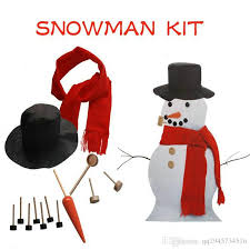 Christmas Decorations Wholesale Europe by Cheap Wholesale Christmas Snowman Dress Set Snowman Hat Scarf Eyes