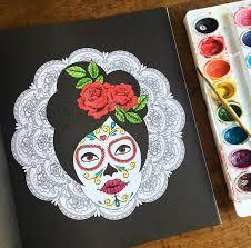 dia de los muertos sugar skulls dia de los muertos day of the dead and sugar skull coloring book