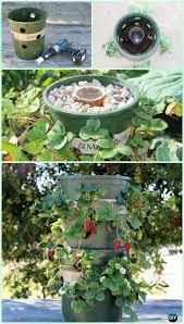 10 space saving strawberry garden gardening planter ideas