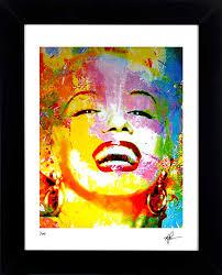 Marilyn Monroe Wall Decor Marilyn Monroe Art Print Framed Iconic Painting Wall Decor Mark