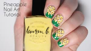 summer pineapple nail art tutorial youtube pineapple nails