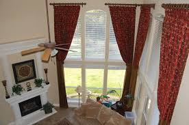 Decorative Curtains For Living Room Long Red Pattern Decorative