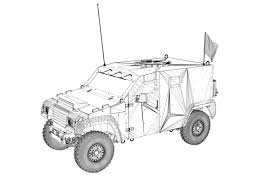 army jeep drawing auverland panhard pvp united nations 3d model