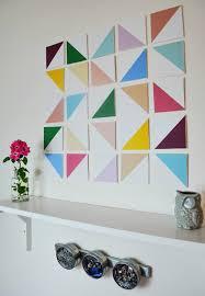dimensional wall diy dimensional geometric wall a joyful riot
