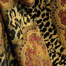 Animal Print Upholstery Fabric I Am What I Am Black Animal Print Damask Fabric Damasks