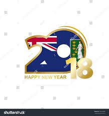 Virgin Islands Flag Year 2018 British Virgin Islands Flag Stock Vector 729079888