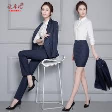 buy women wear navy blue suit suit collar temperament slim skirt