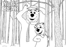 coloring pages of yogi bear yogi bear picture with boo coloring pages batch within idea 7