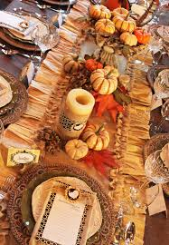 Thanksgiving Table Setting by Amanda U0027s Parties To Go Tutorial Thanksgiving Burlap U0026 Corn Husk