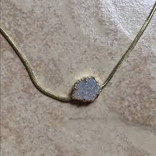 small stone necklace images Kendra scott accessories on hold small stone necklace poshmark jpg