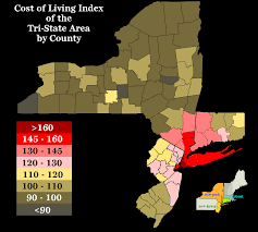 Map Of Counties In New York State by Oc Cost Of Living Index Of The Tri State Area New York New