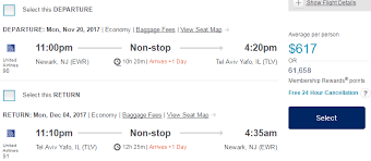 hurry fly on united nonstop from newark to tel aviv for 616 or
