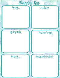 party menu planner template pantry makeover free printable weekly meal planner and shopping free printable shopping list with watercolour background at thehappyhousie com