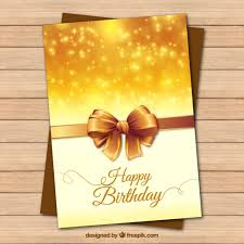 golden birthday cards golden happy birthday card birthday greeting