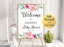 baby shower welcome sign baby shower welcome sign baby shower sign floral baby shower