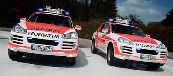 porsche cayenne service porsche delivers cayenne emergency vehicles to stuttgart s