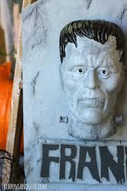 make your own halloween tombstone frankenstein tombstone