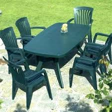 White Resin Patio Table White Resin Table And Chairs 7 Outdoor Dining Set Silver And