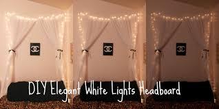 Icicle Lights In Bedroom Diy Elegant White Lights Headboard Youtube