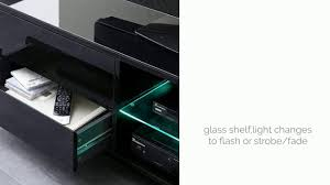 Led Tv Stands And Furniture Sienna Tv Stand Unit In Black High Gloss With Led Lights Youtube