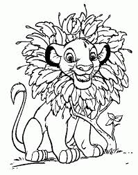 printable cartoon lion king coloring pages kids