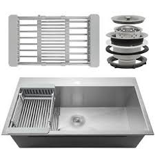 single basin kitchen sink ebay
