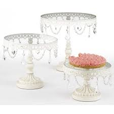 vintage cake stand vintage style cake stands with trim white on sale