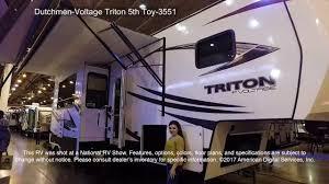 dutchmen voltage triton 5th toy 3551 youtube