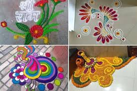 rangoli decoration welcome 2018 with new year rangoli designs
