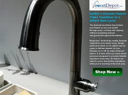 touch on kitchen faucet beautiful no touch kitchen faucet photo home decoration ideas