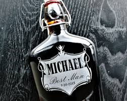 and groom flasks glass flask personalized gift for him gift for men gift for