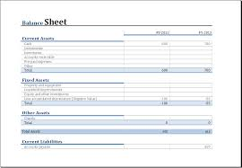 Excel Balance Sheet Template Free Yearly Comparison Balance Sheet Template For Excel Excel Templates