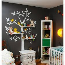Vinyl Tree Wall Decals For Nursery by Shelves Tree Wall Sticker With Birds